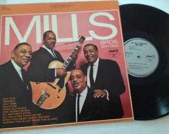 Vintage Mills Bros. Anytime LP - album record
