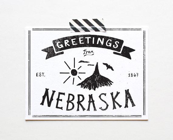 state of nebraska postcard
