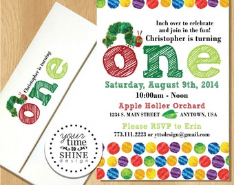Very Hungry Caterpillar Birthday Invitations