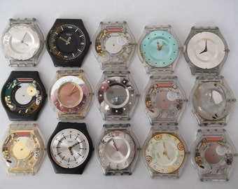 Lot of 15 Vintage Digital  Watches  non working Watch parts  Supplies Finding  Steampunk  Assemblage