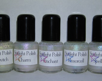 Bespell Duochrome Shimmer Top Coat Set Effect Nail Lacquer Indie 5mL Starlight Polish