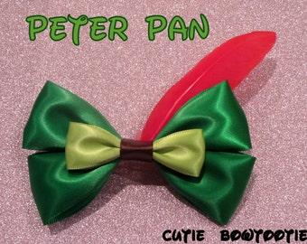 Peter Pan hair bow Disney Inspired