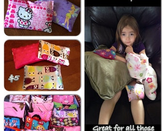 Kids all natural flax seed ice/heat packs.
