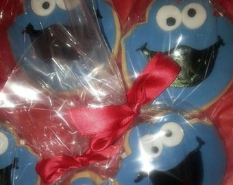 12 Cookie Monster Cookie Favors