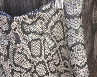 Vintage Faux Snake Skin High Waisted Shorts