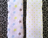 Muslin Swaddle Blanket- 44in x 44in - Monogramming Available