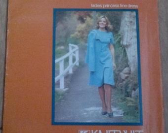 Ladies Princess Line Dress or Jacket Sewing Pattern KnitWit 3400