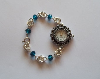Rosary Weave Watch - Chainmaille