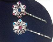 Swarovski Crystal Bobby Pins // Set of 2
