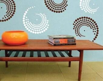 Curvy Vinyl Wall Decals, Shape Wall Decals, Shape Wall Desings, Shape Wall Murals, Circle Wall Decals, Dots Decals, Circle Wall Designs, g22