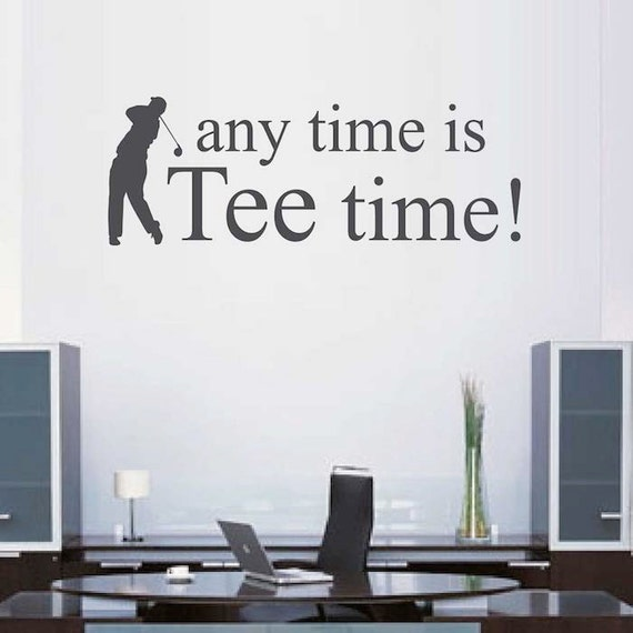Any Time is Tee Time Wall Quote by TrendyWallDesigns