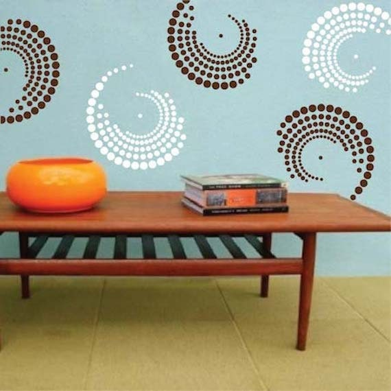 curvy vinyl wall decals shape wall decals shape wall desings shape wall murals circle wall decals dots decals circle wall designs g22 - Simple Shapes Wall Design