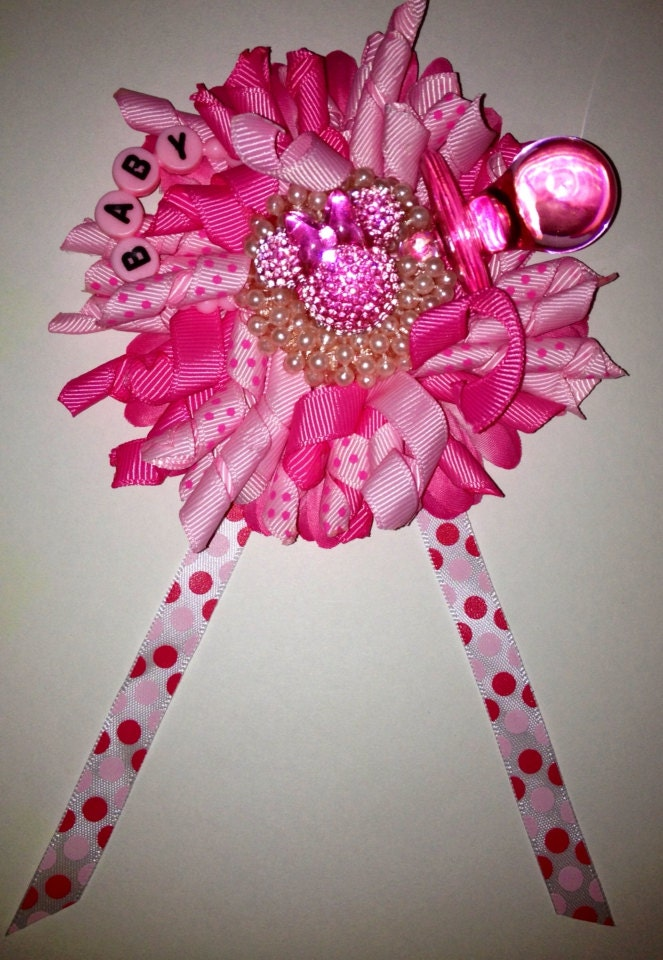 minnie mouse theme baby shower wrist by adreamfulfilled on etsy