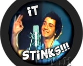 Rifftastic  MST3K inspired pinback buttons / stickers Pod People It Stinks