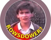 Rifftastic  MST3K inspired pinback buttons / stickers Final Sacrifice Rowsdower