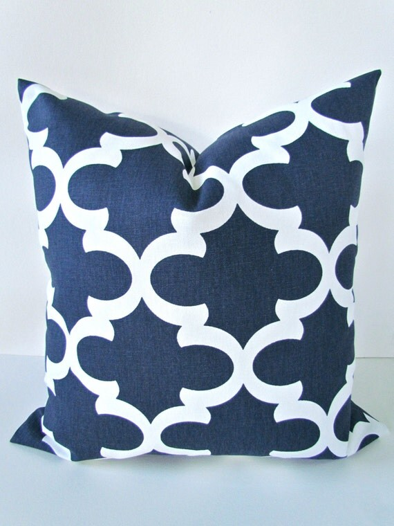 Dark Blue Throw Pillow : Items similar to DARK BLUE PILLOW 18x18 Decorative Throw Pillows Navy Blue Throw Pillow Covers ...