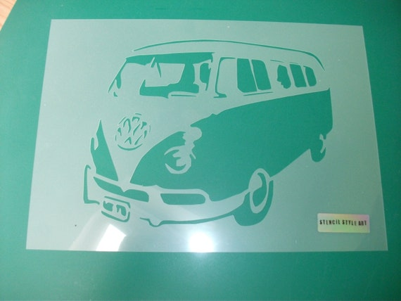 large wall stencils for paintingVW Camper Van Stencil Large wall stencil decorative stencils