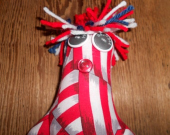Military Doll - Stars and Stripes, USA, Army, Navy, Coast Guard, Marines, Air Force, Service Men and Women, Dammit Flad doll