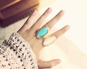 Stone Ring, Hipster Ring, Cool Ring, Bold Stone Jewelry, Gem Ring,