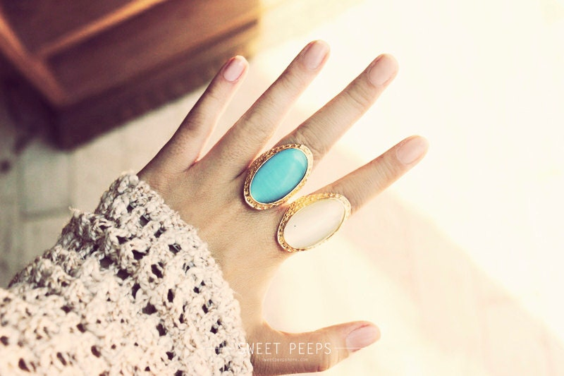 Stone Ring Hipster Ring Cool Ring Bold Stone Jewelry Gem