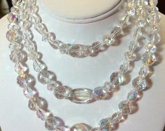 AB Crystal Triple Necklace