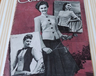 1943 New Cotton SWEATERS The Cotton Spool Company Booklet