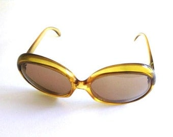 Marwitz Original Yellow Vintage Sunglasses MADE IN GERMANY
