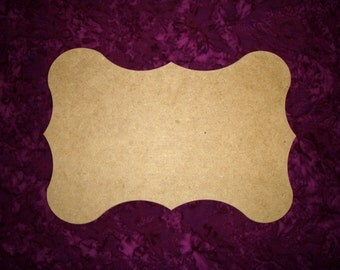 Unfinished Wood Plaque Wooden Cut Out Wooden MDF Paintable 9 x 13 Inch Part#  MPLAQ-01