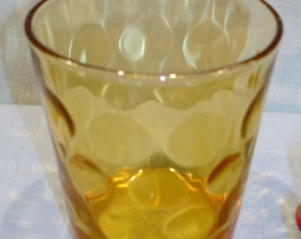 Dots Amber Old Fashioned Glasses, 3 in.