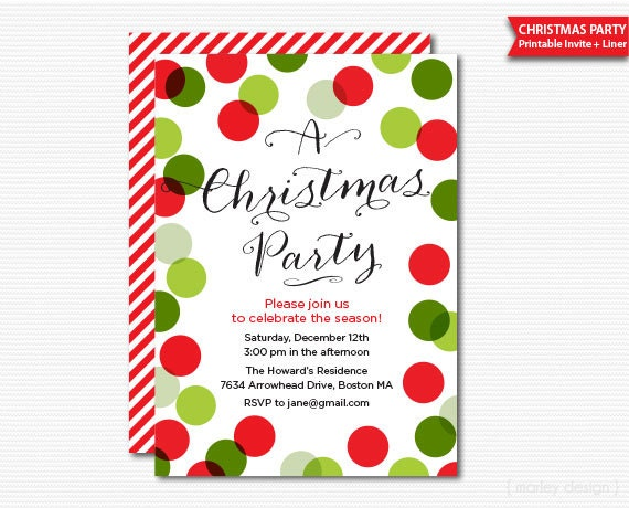 Genius image inside printable holiday invitation