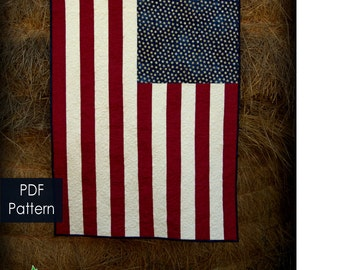 American Baby quilt pattern - PDF pattern to make the American flag into a treasured baby quilt