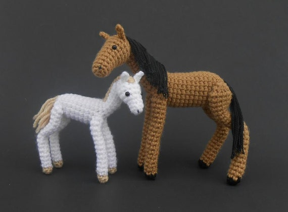 Amigurumi Horse Head : Crochet Foal PATTERN by JRPcrochet on Etsy