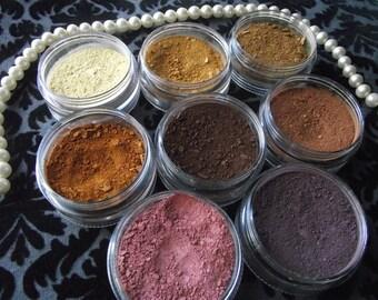 Soft Neutrals Collection - Eight Matte Eyeshadow Set Organic Vegan