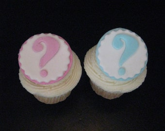 Gender Reveal Cupcake Toppers