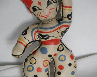 Mid-century vinyl clown doll