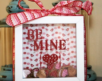 Be Mine Vinyl Lettering Decal (Shadow Box Not Included)