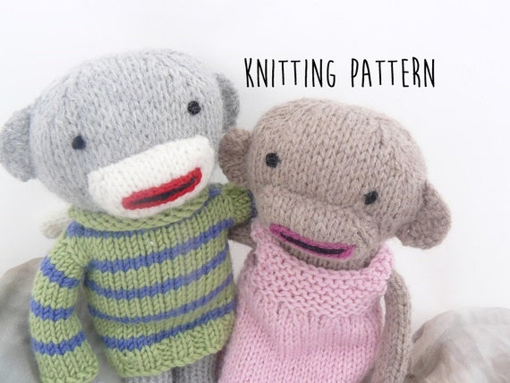 Knitting Patterns For Sock Monkey Clothes : Knitting pattern for sock monkeys
