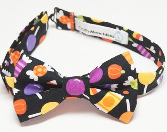 Bow Tie - Black with Candy Treats Bowtie