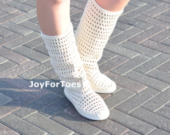 Crochet Boots Shoes for the Street Woman Boho Style Pisa Tower Made to Order Lace Boots