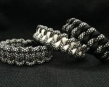 Silver Diamonds Pattern Paracord Bracelet (custom weave and size)