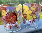 Recycled Absolut Hibiskus Glasses