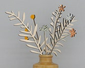 Wooden Flowers - Plywood Flowers - Wooden Meadow Flowers - Campion Set - Mother's Day Gift