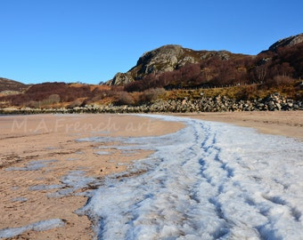 Remnants of Winter, Scotland, 11.7x16.5in Photo Print -  Mounted 16x20in