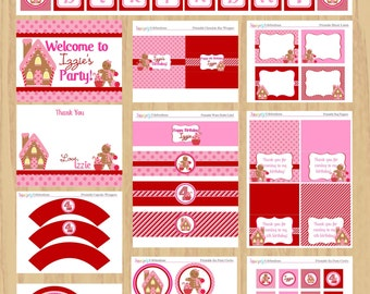 Gingerbread Girl Printable Party Package