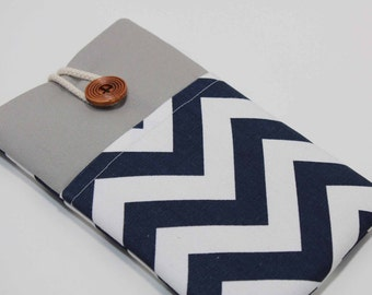 "Kindle Fire HDX 7"" case Chevron Blue Kindle Fire Cover Nook HD 7"" Case Foam padded with Pocket"