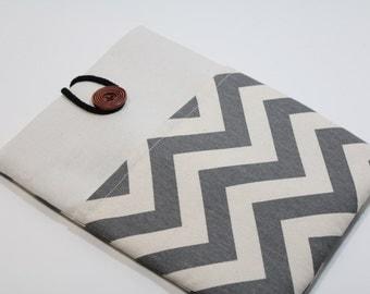 Grey Ipad Pro 9.7 Case Chevron Ipad Air 2 Case foam Padded iPad Pro Cover with Pocket- Chevron Grey
