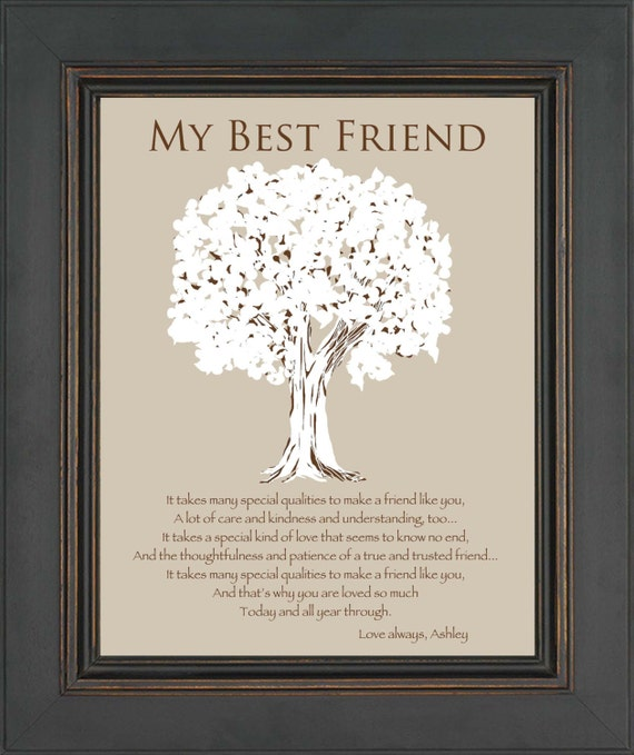 37 Unique Birthday Gifts For Her: BEST FRIEND Gift Personalized Gift For A By KreationsbyMarilyn