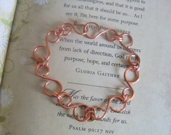 Copper, copper wire, wrapped, copper bracelet