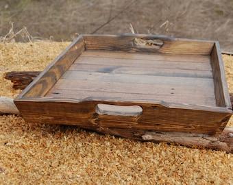 Serving Tray/ Vanity Tray/ Wood/ Ottoman Tray/ Reclaimed Wood