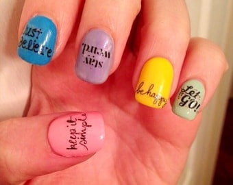 Positive Words Nail Decals
